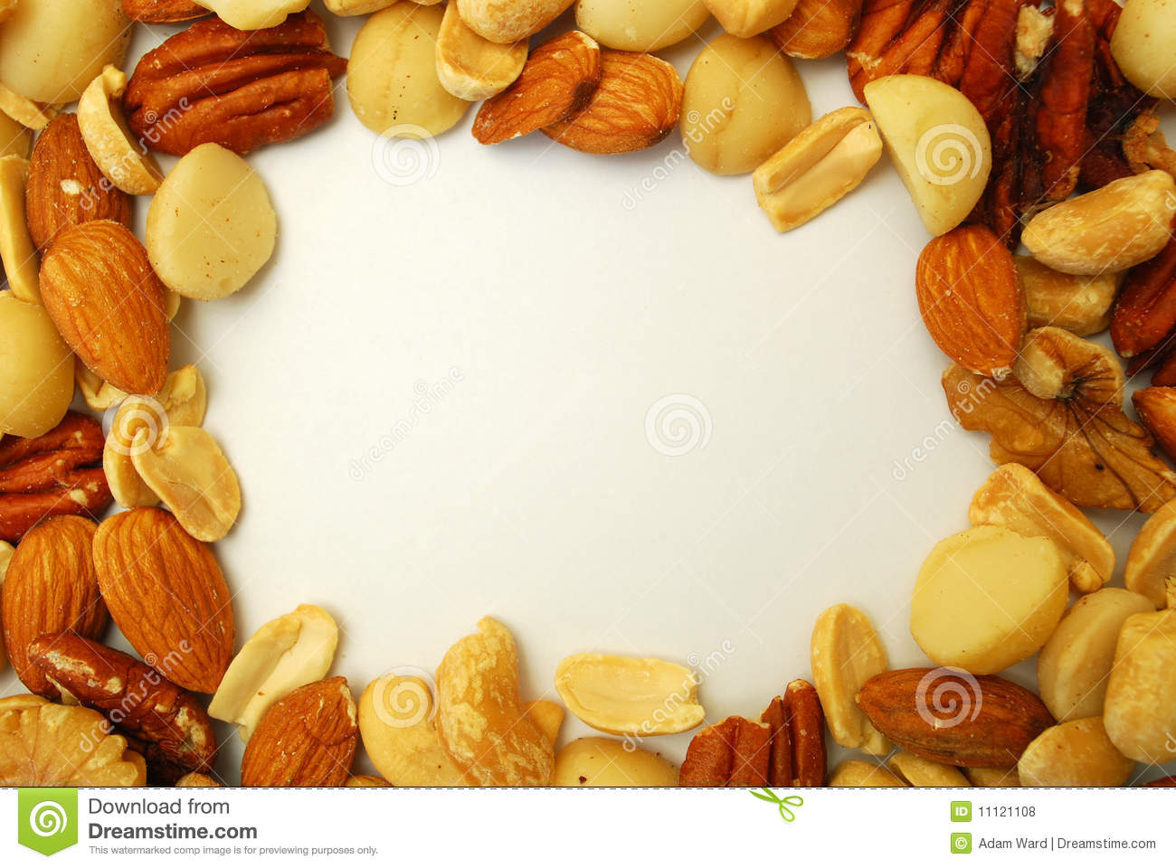 border of nuts stock photo image of closeup snack