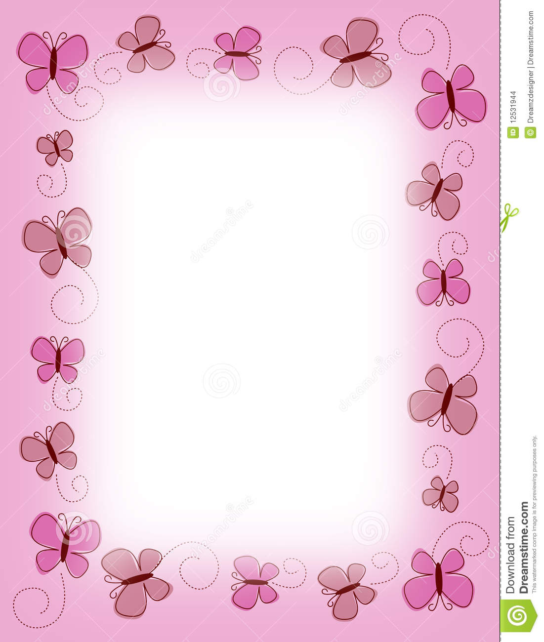 Pink butterfly borders - photo#14