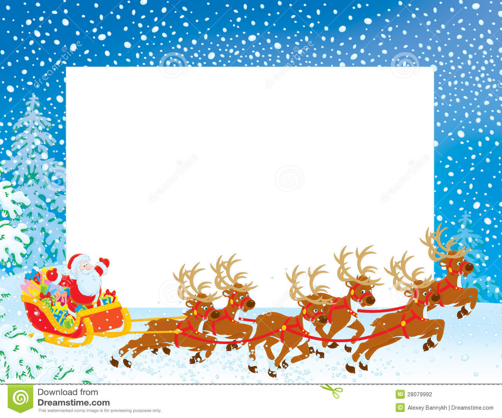 Santa Borders Christmas border with santa