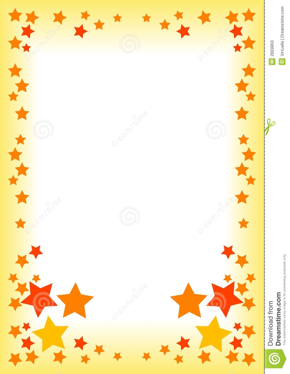Border with stars stock vector. Illustration of wedding ...