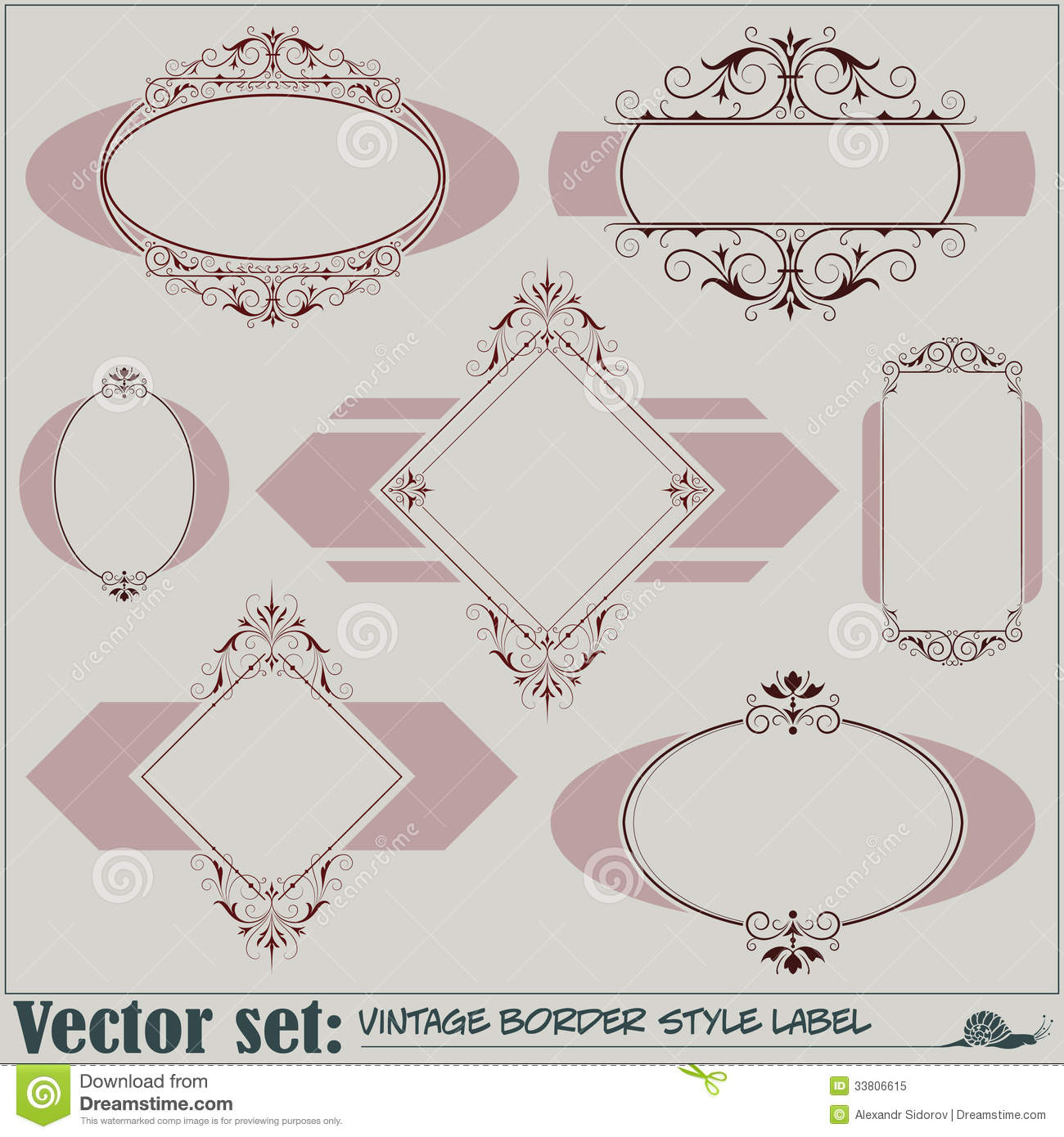 border style labels stock vector  illustration of