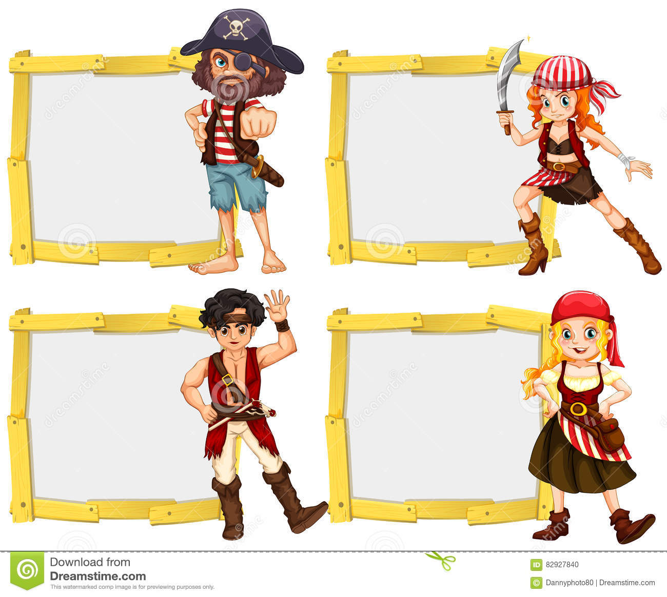 free pirate border template