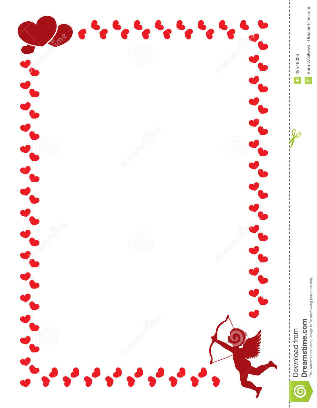 A Border For The Valentine S Day Stock Vector Image