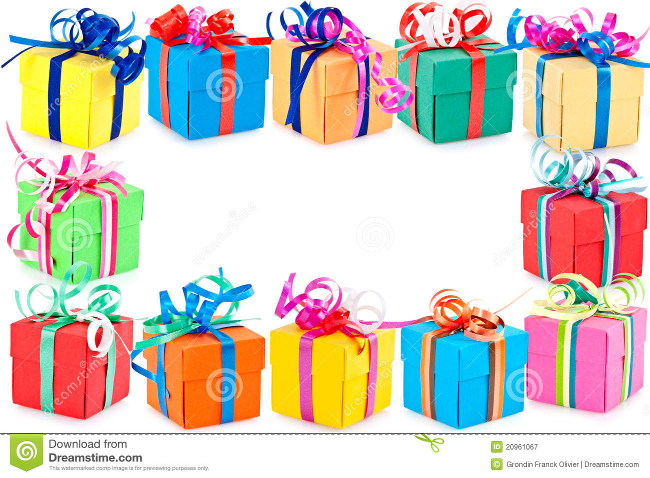Border Of Wrapped Presents