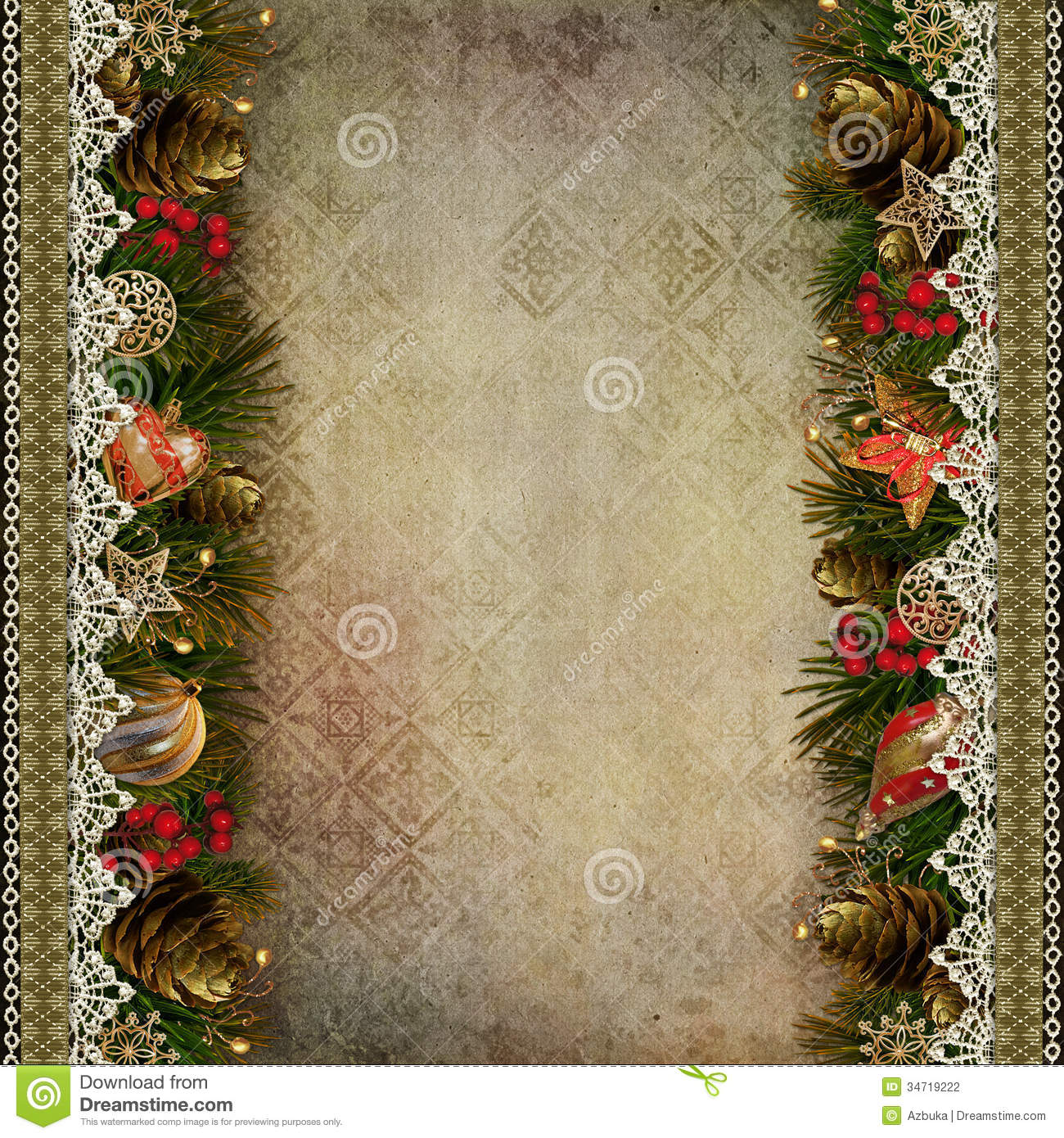 Vintage Background With Lace Borders Stock Vector - Image: 68935843
