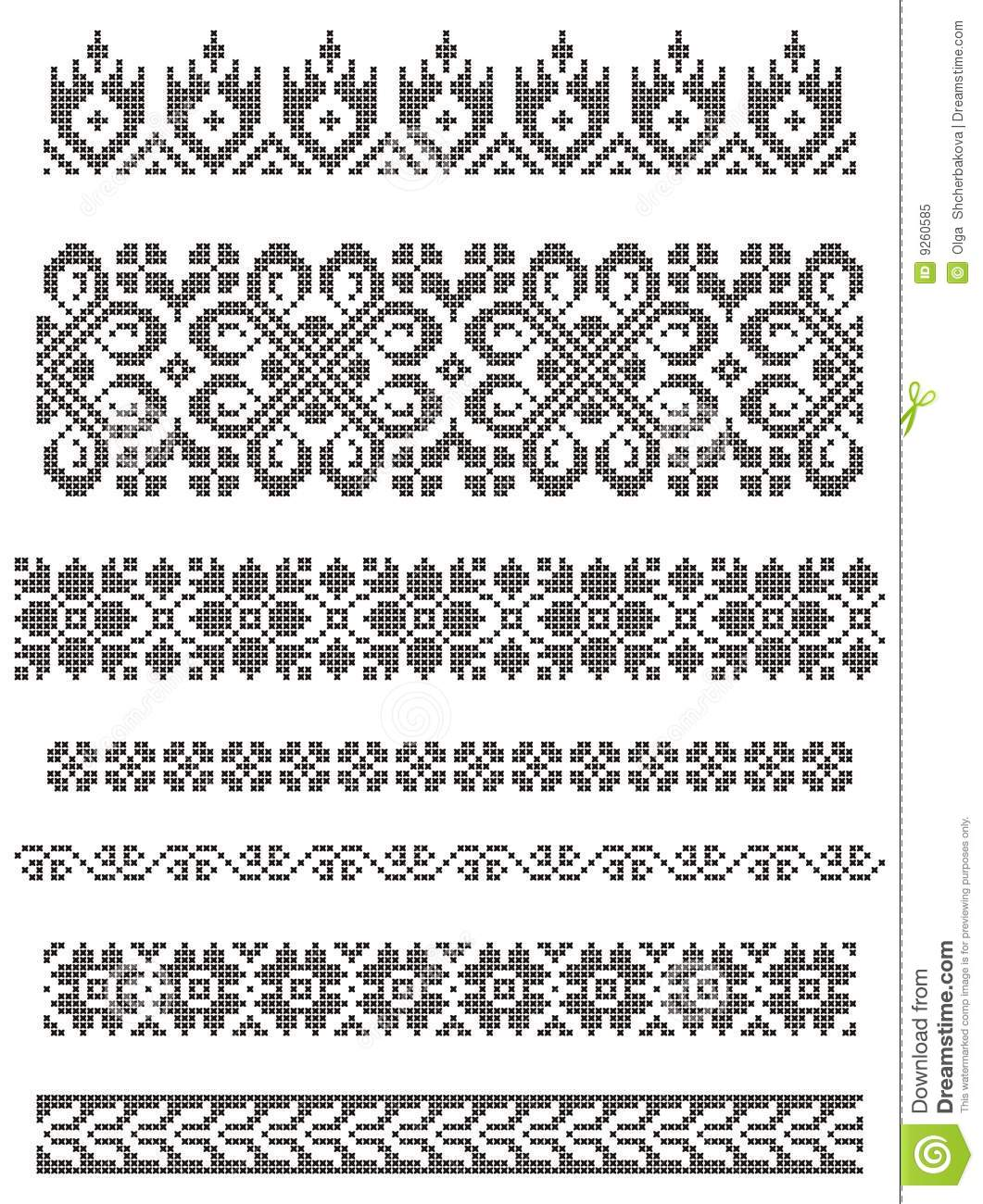 Decorative frames set download free vector art stock graphics - Borders Embroidery Royalty Free Stock Photo Image 9260585