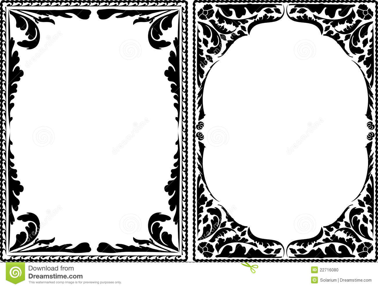 Borders Plant Stock Vector Image Of Silhouette Frame