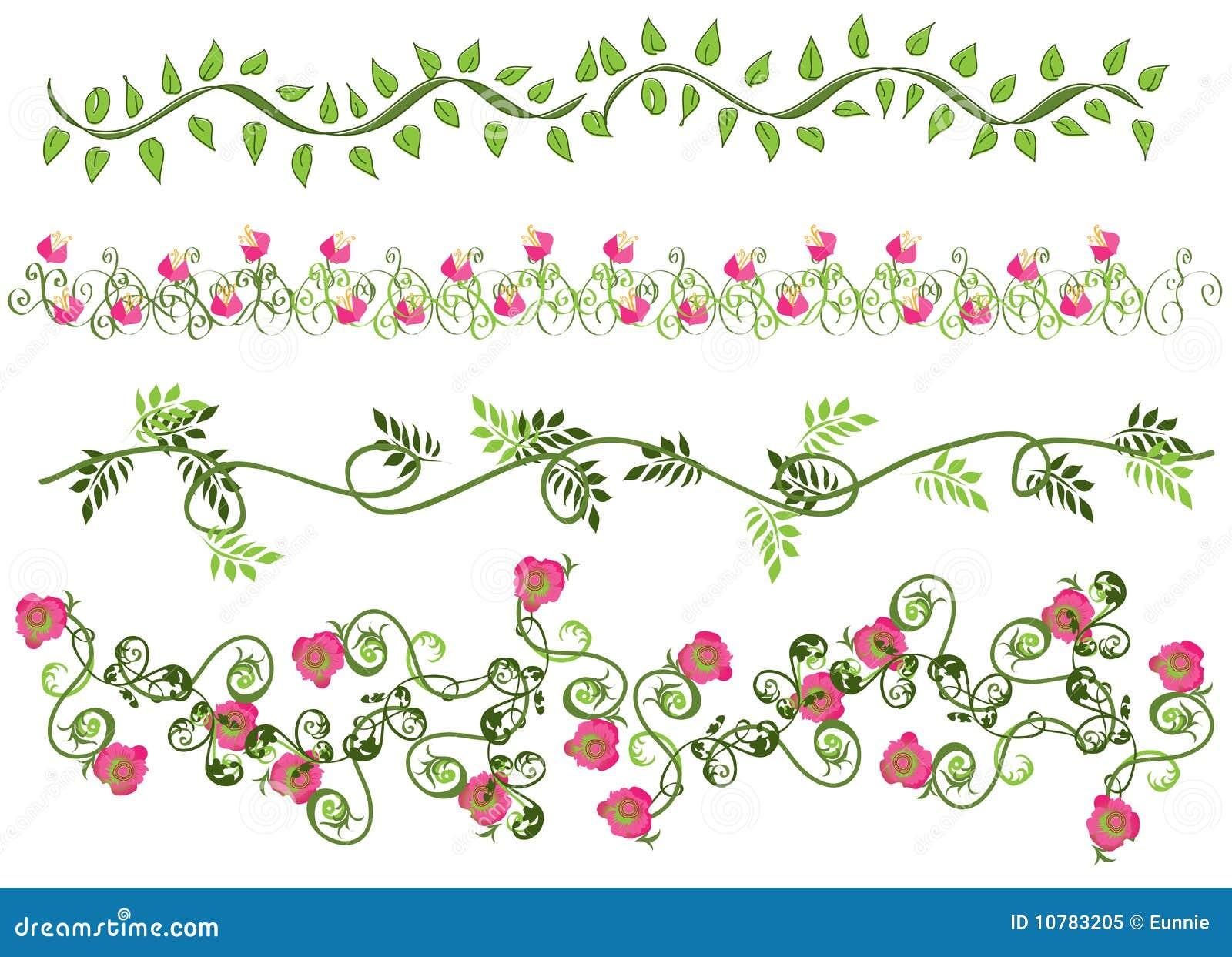 Bordi floreali fotografia stock libera da diritti for Bordi decorativi
