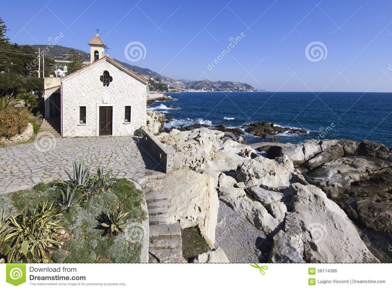 Bordighera, Italy Stock Photo - Image: 58114386