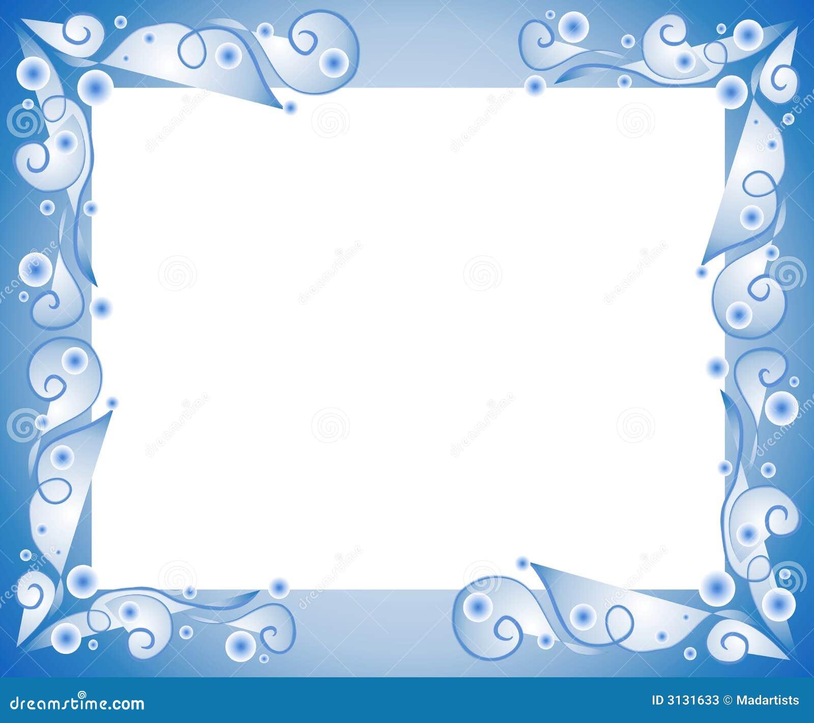 Bordo Blu Decorativo Del Blocco Per Grafici Illustrazione