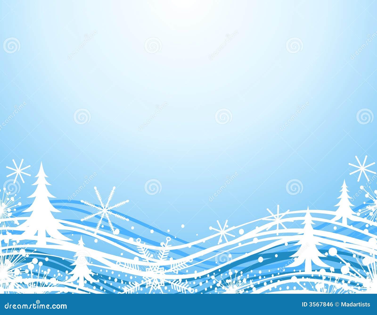 Bordo blu di natale di inverno