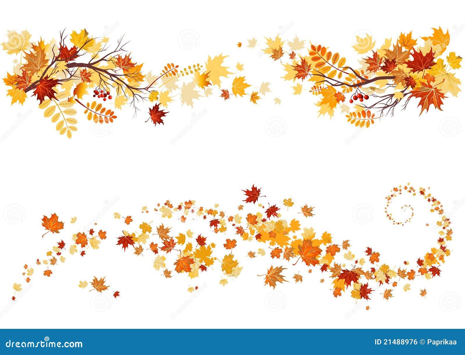 Bordo dei fogli di autunno