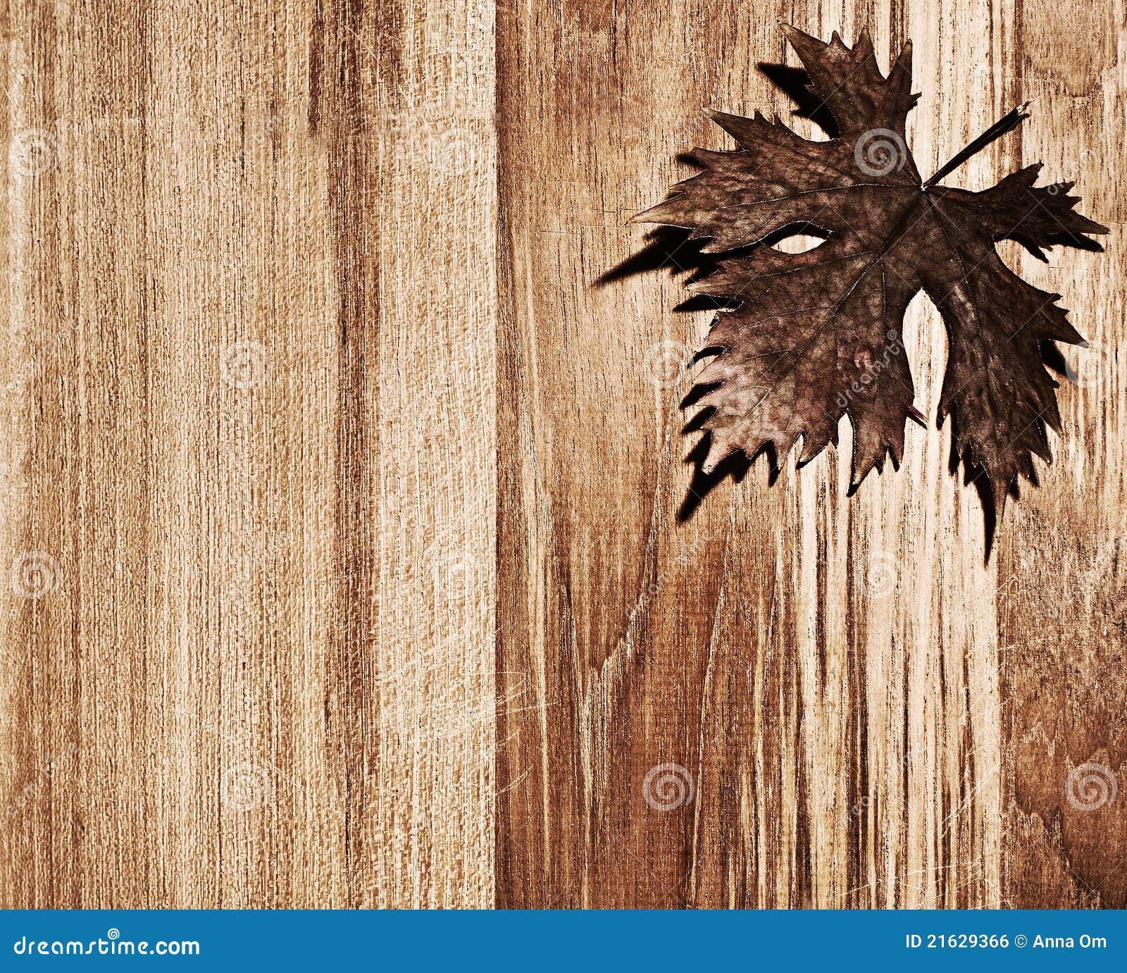 Bordo di legno del foglio di autunno