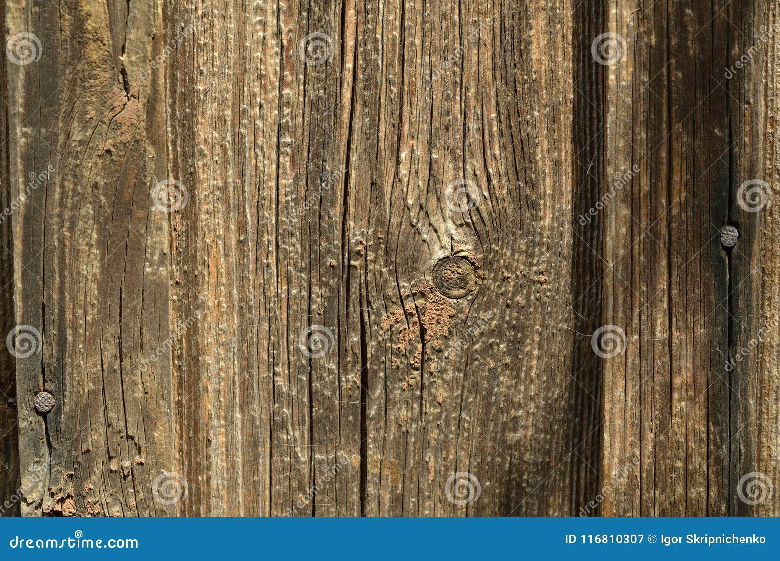 Bordo di legno senza pittura, struttura di marrone scuro