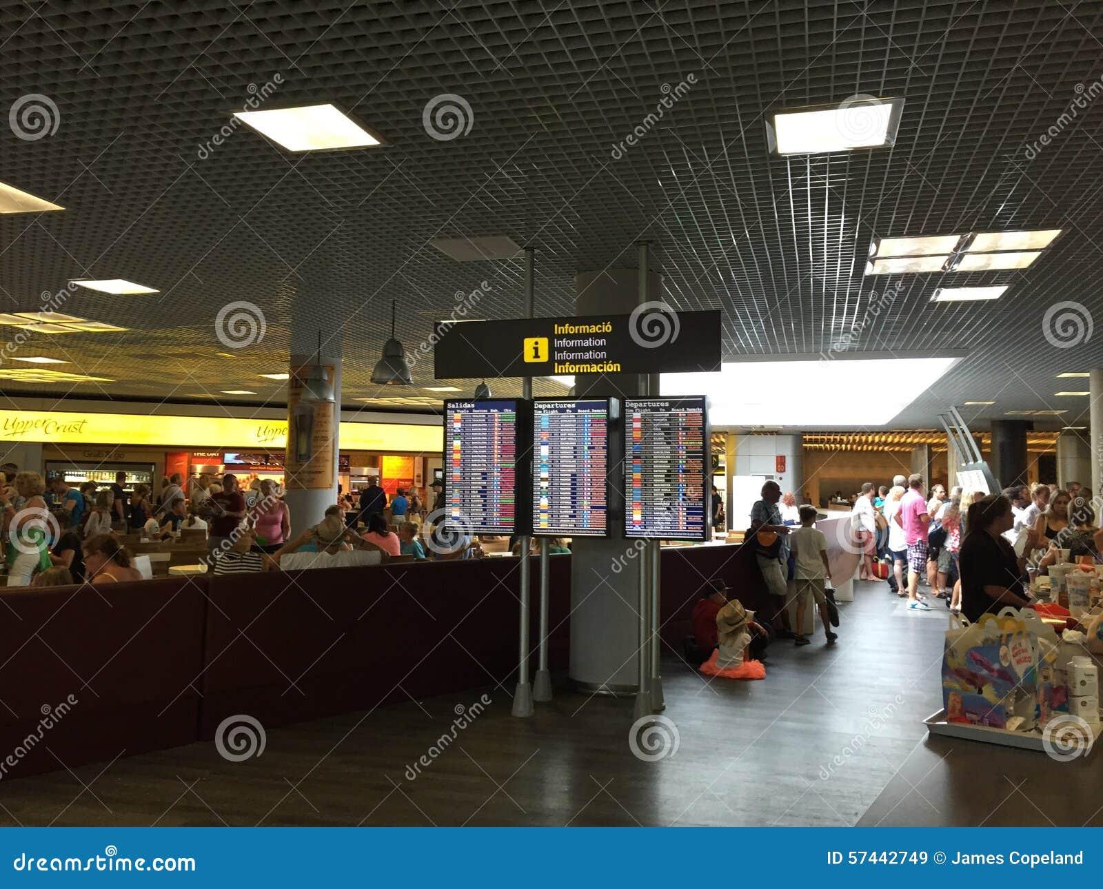 Bordo di partenza dell aeroporto in Palma Mallorca