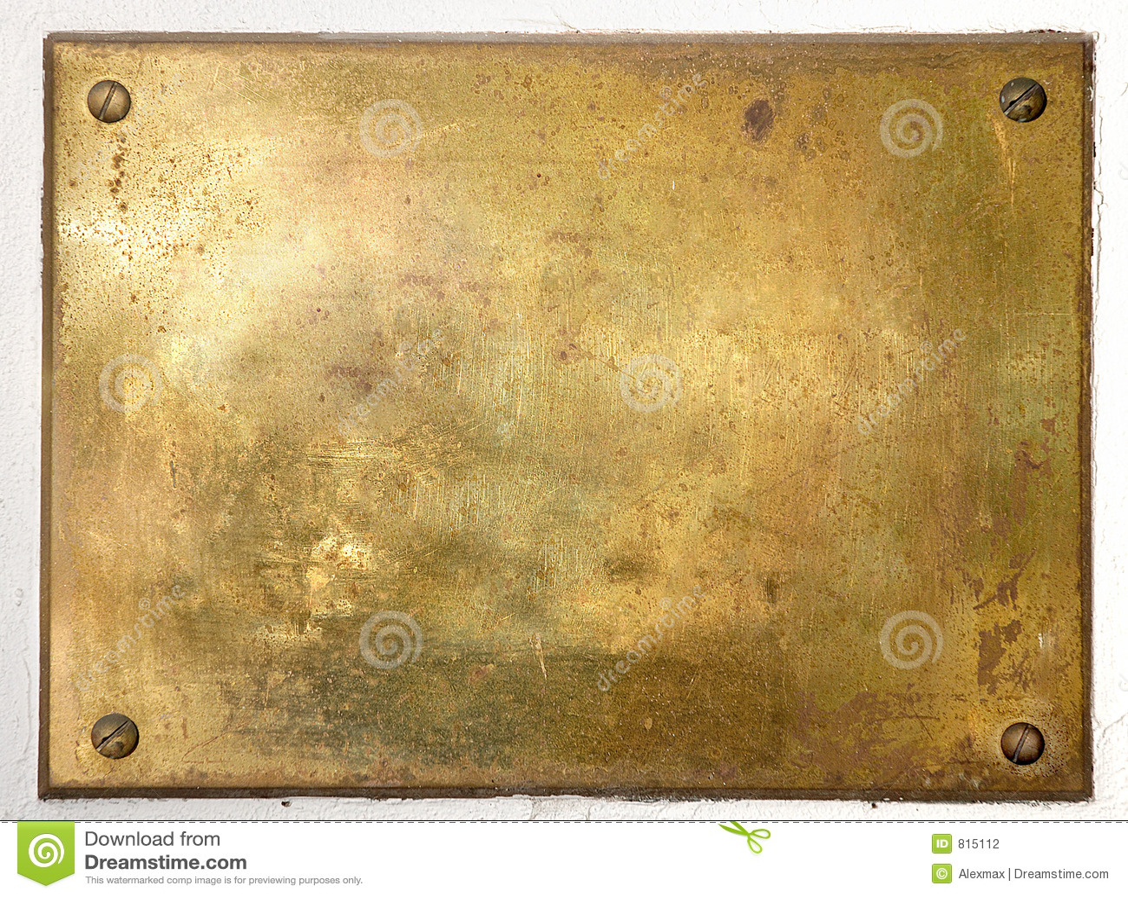 Bordo di piastra metallica d ottone giallo