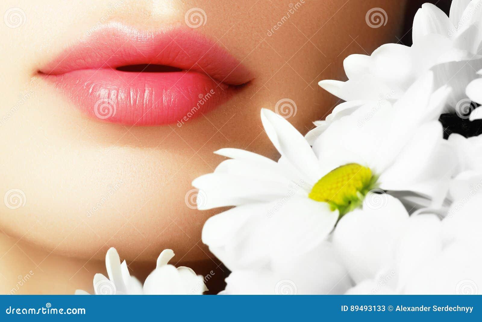 Bordos com flor Bordos fêmeas bonitos do close-up com bordo brilhante