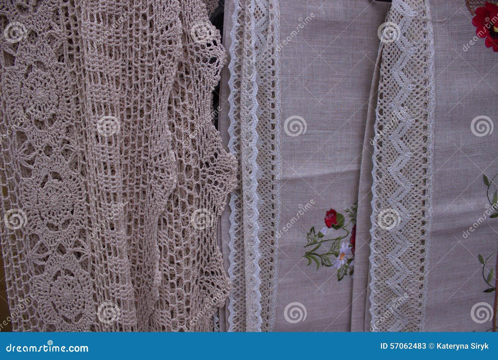 Borduurwerk op doek