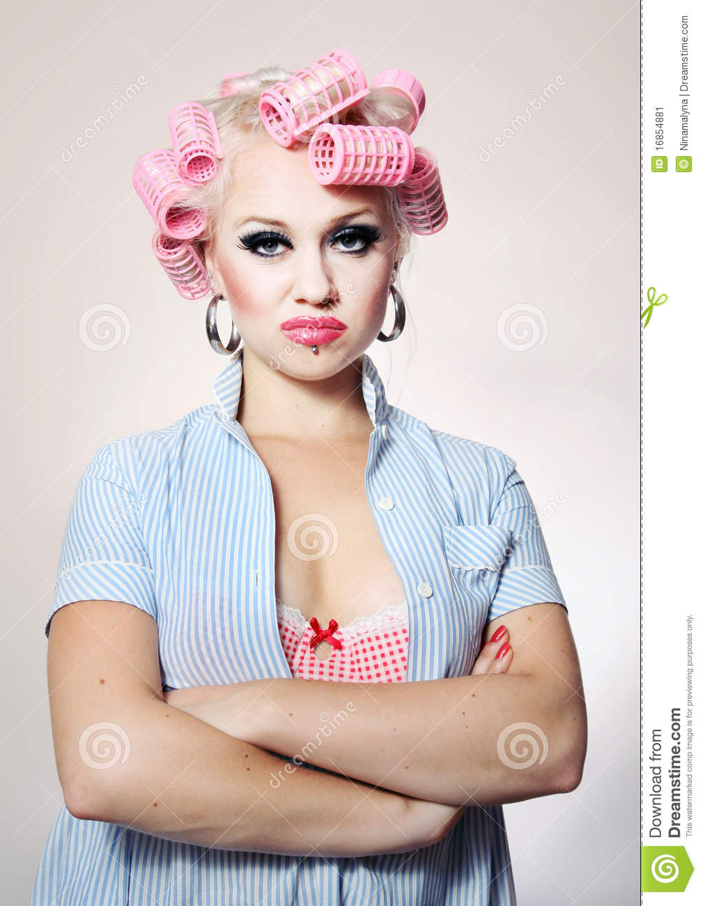 Bored Attractive Housewife Stock Image - Image: 16854881