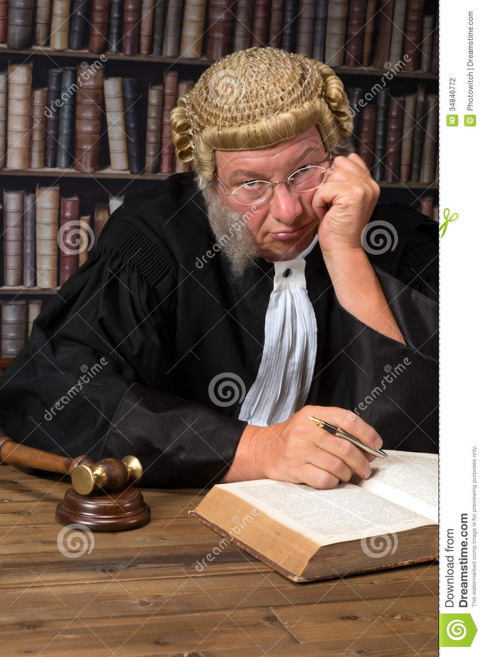 Bored Judge In Court Stock Photography Image 34846772