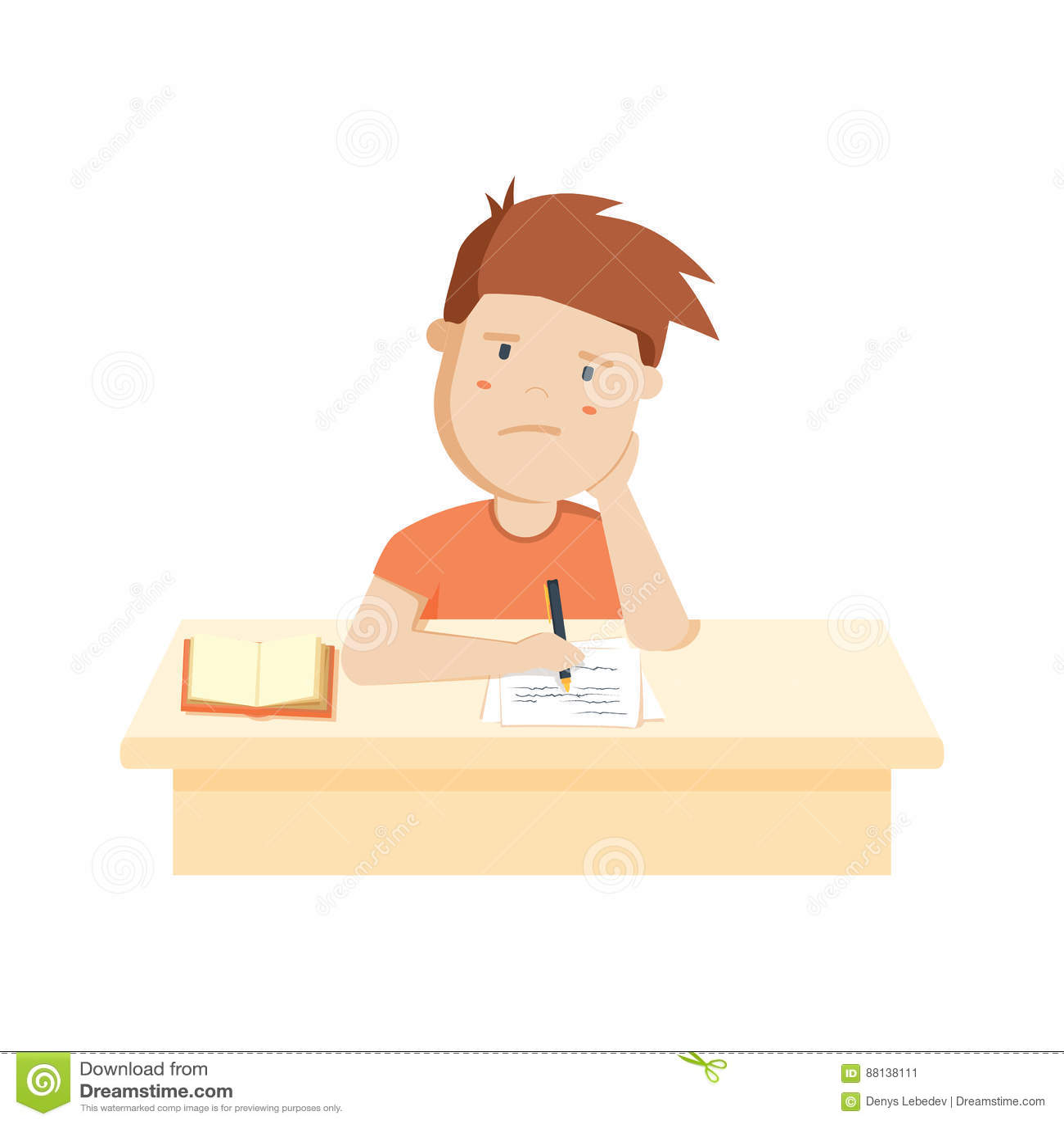 https://thumbs.dreamstime.com/z/bored-kid-doing-homework-sitting-boring-school-lesson-cute-cartoon-vector-illustration-88138111.jpg
