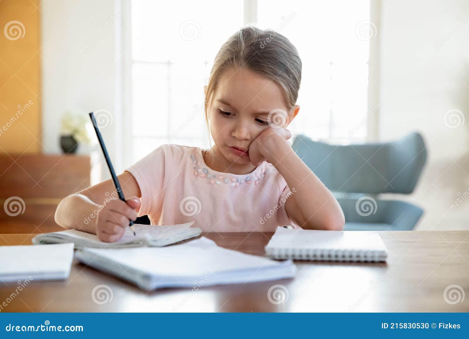 Teenage Girl Doing Homework High-Res Stock Photo - Getty