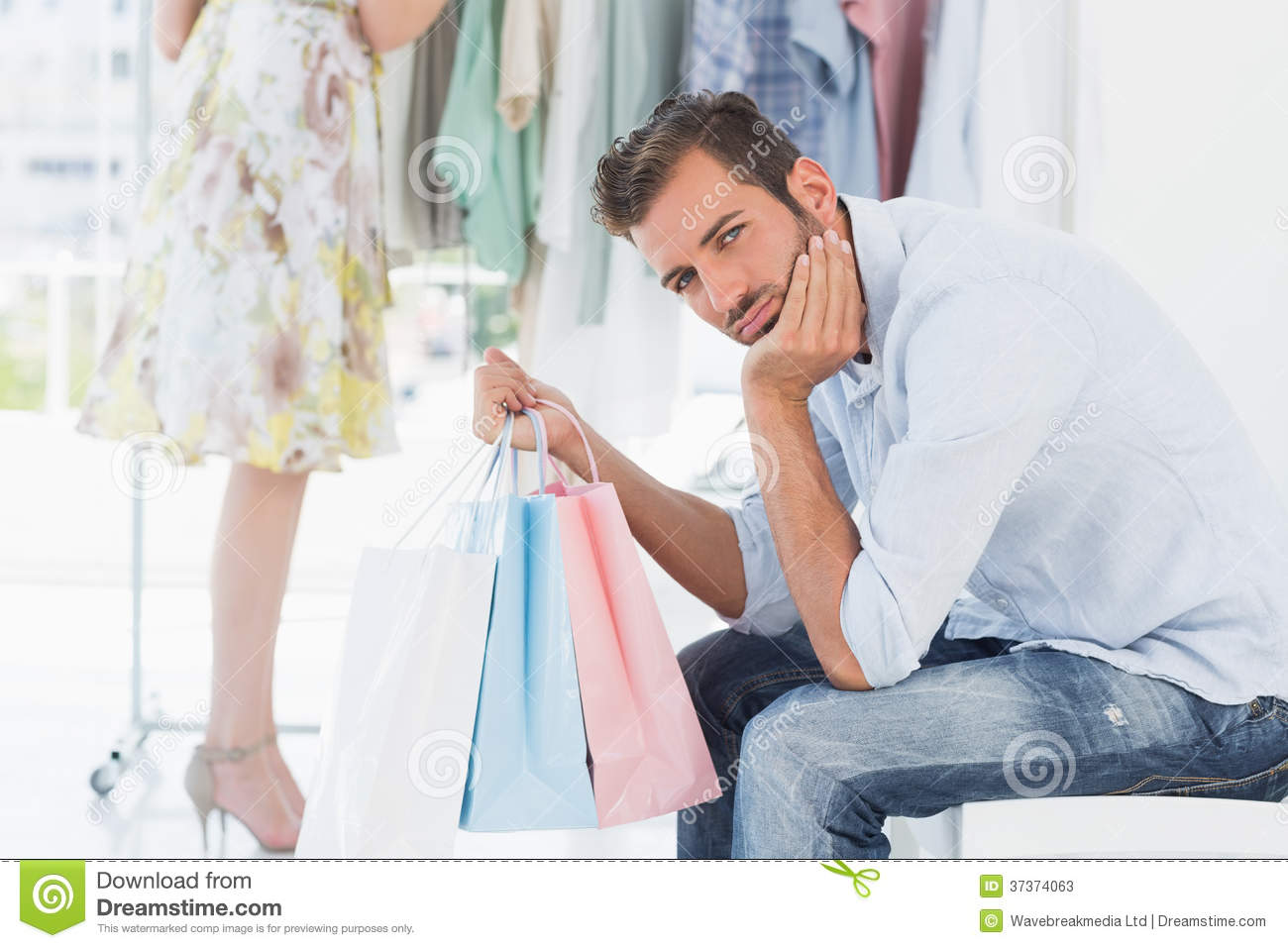 Men dressing in womens clothes. Online clothing stores
