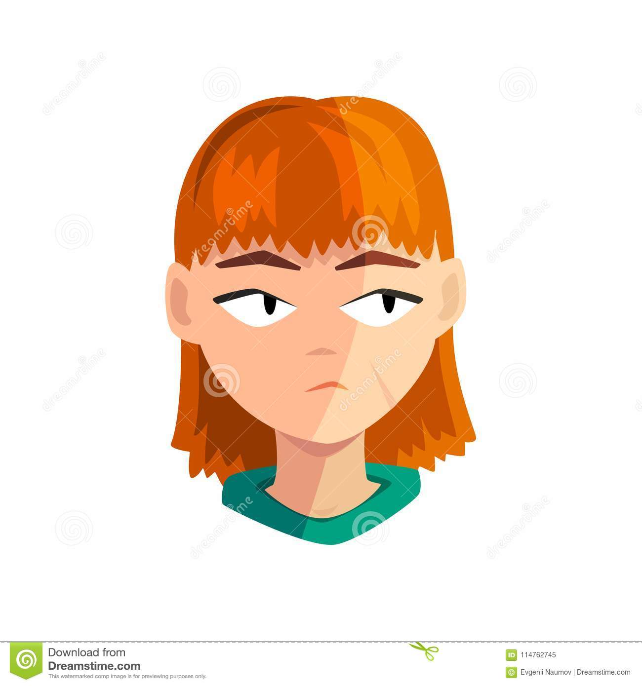 redhead avatars Animated female
