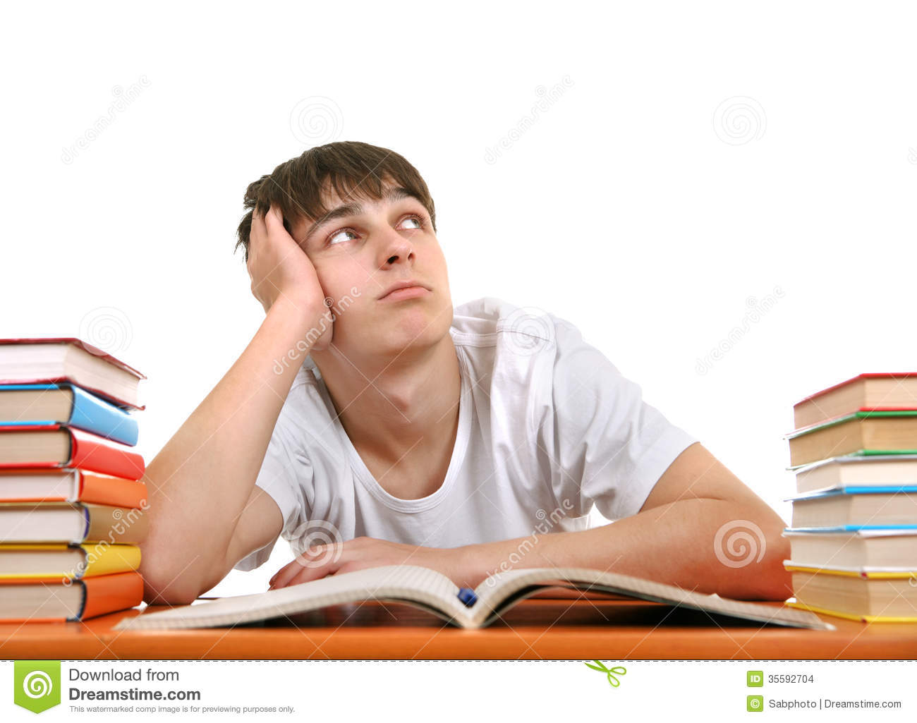 Bored Student Stock Images - Image: 35592704