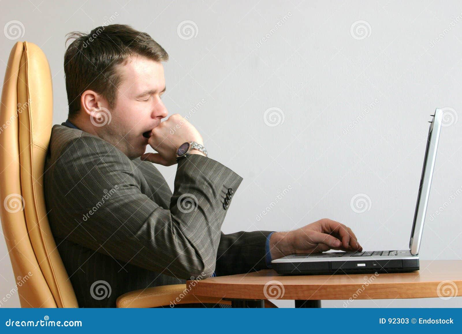 Bored Yawning Businessman Stock Photos Image 92303