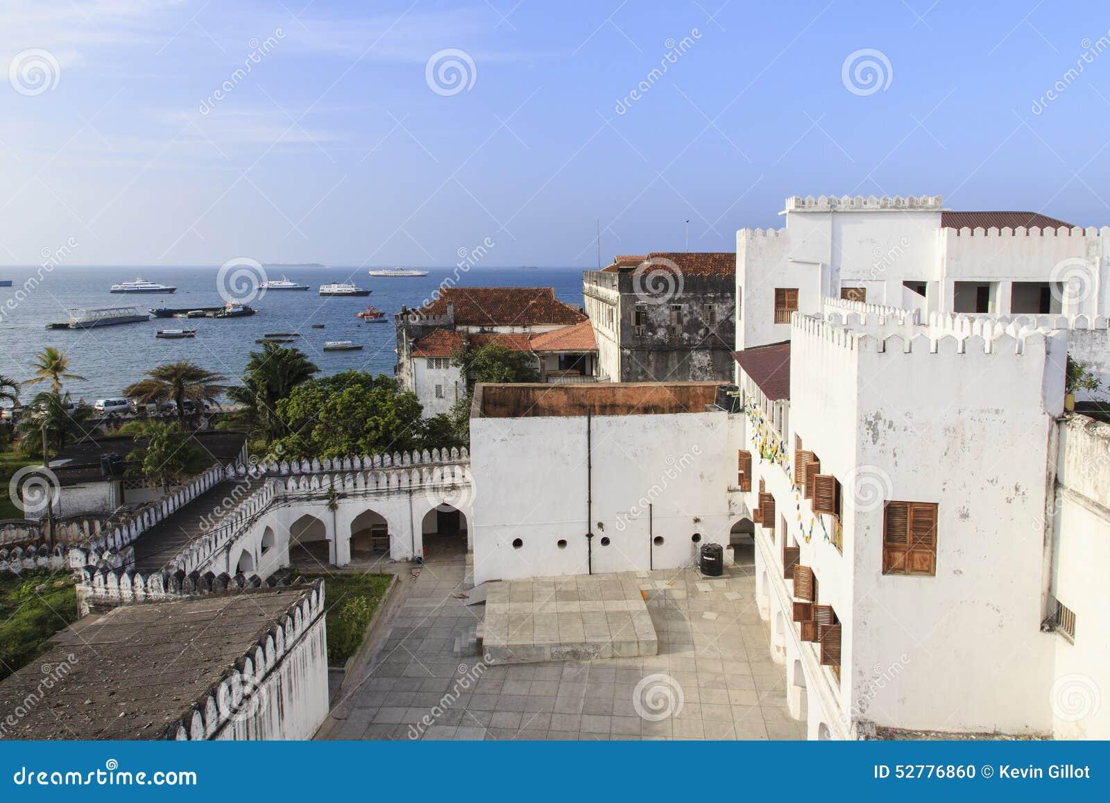 Borggård av sultans slott - Zanzibar