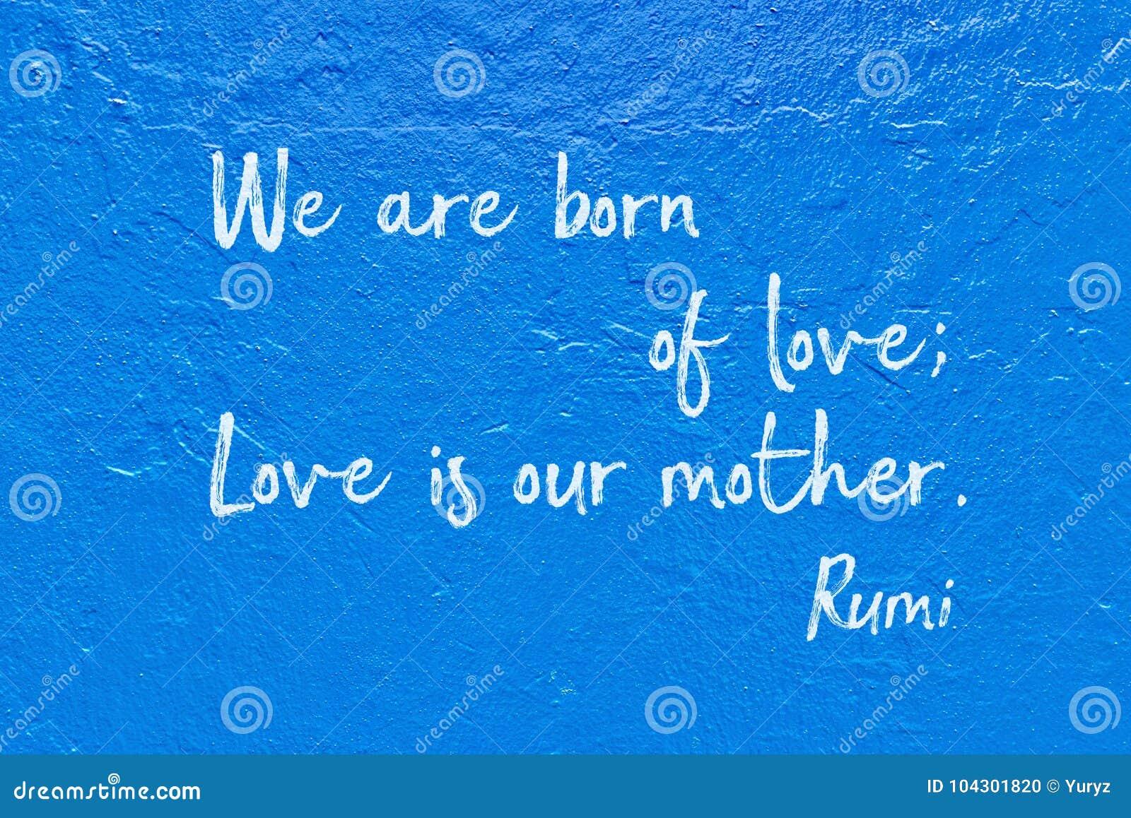 Born Of Love Rumi Stock Photo Image Of Love Horisontal 104301820