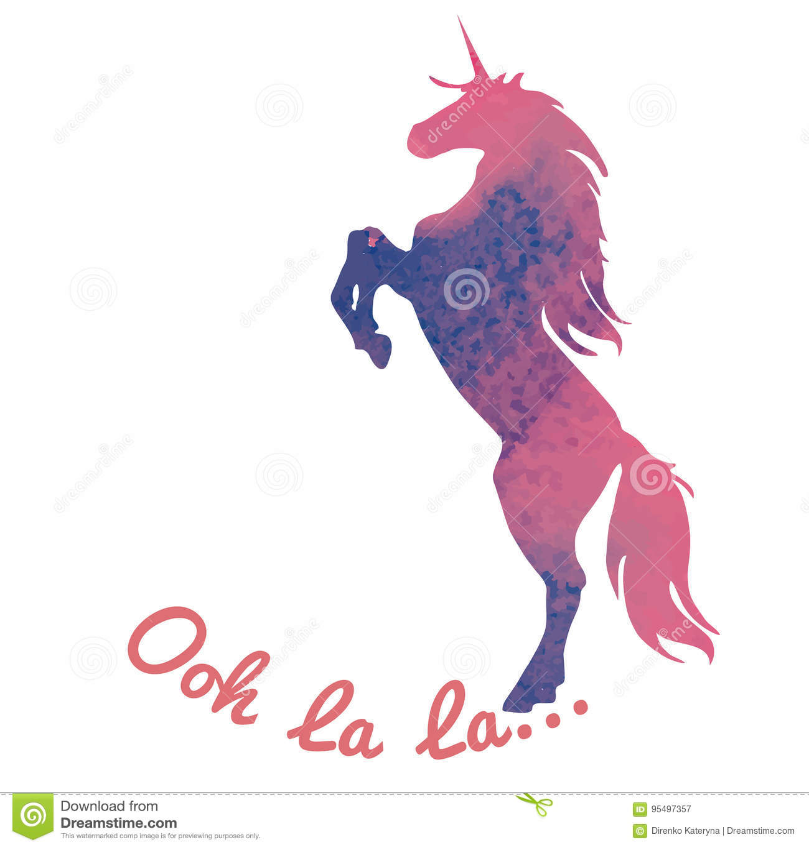 Born To Be A Unicorn  Vector Illustration  Abstract Unicorn