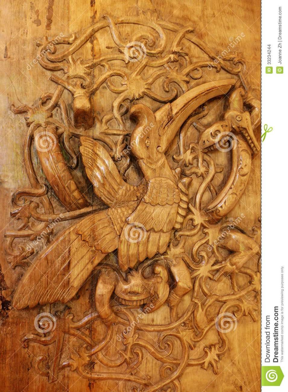 Borneo Tribal Hornbill Bird Art Stock Images - Image: 33234244