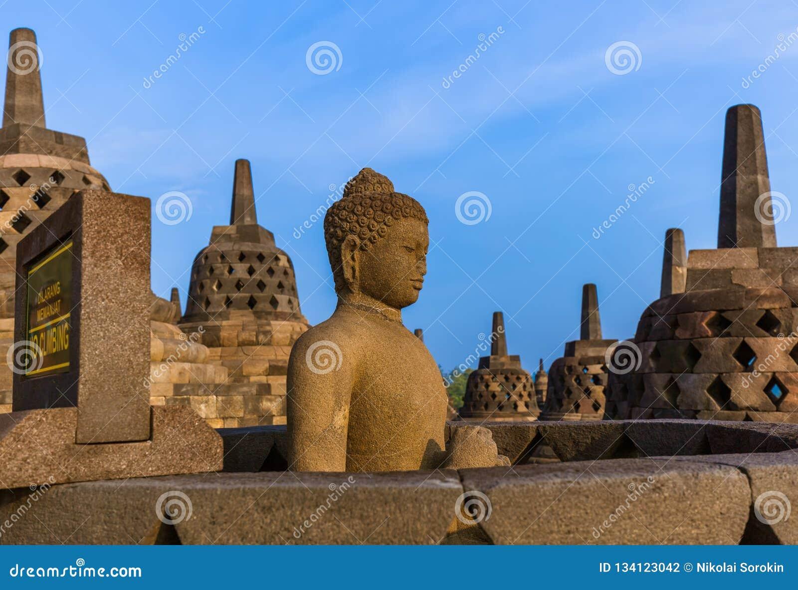 Borobudur Buddist świątynia - wyspa Jawa Indonezja