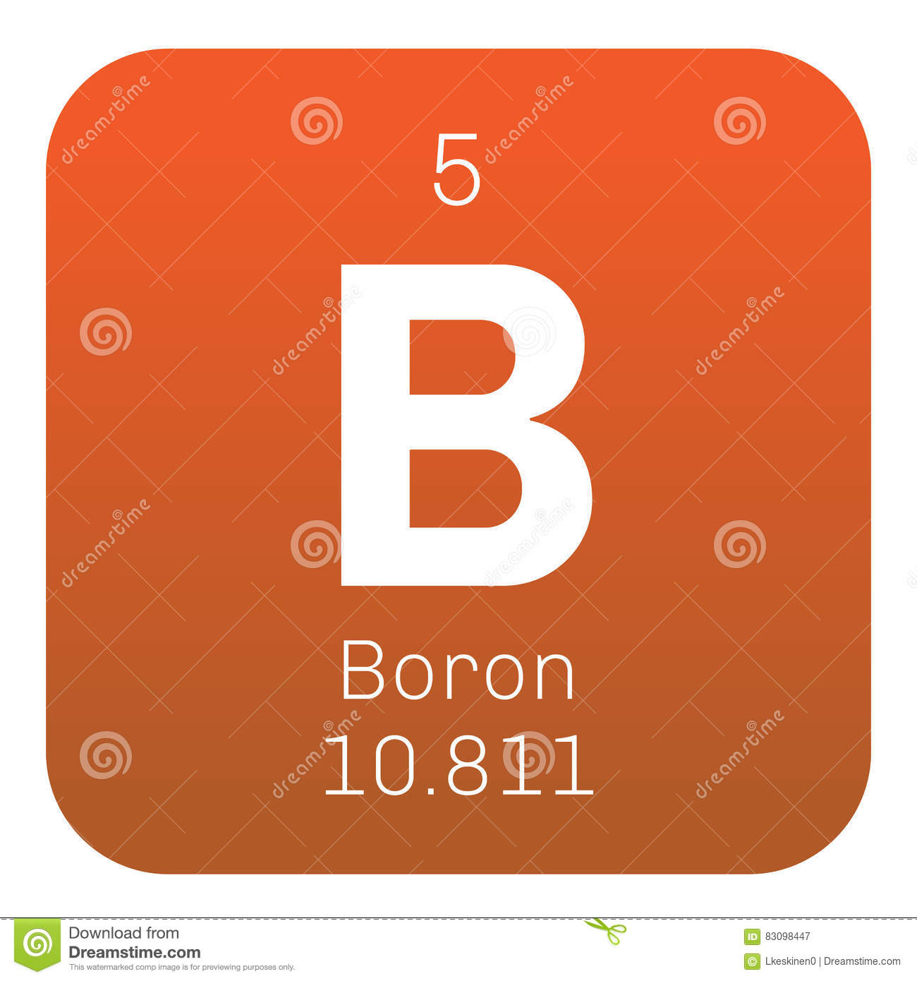 Boron chemical element stock vector illustration of flat 83098447 boron chemical element flat mendeleev buycottarizona