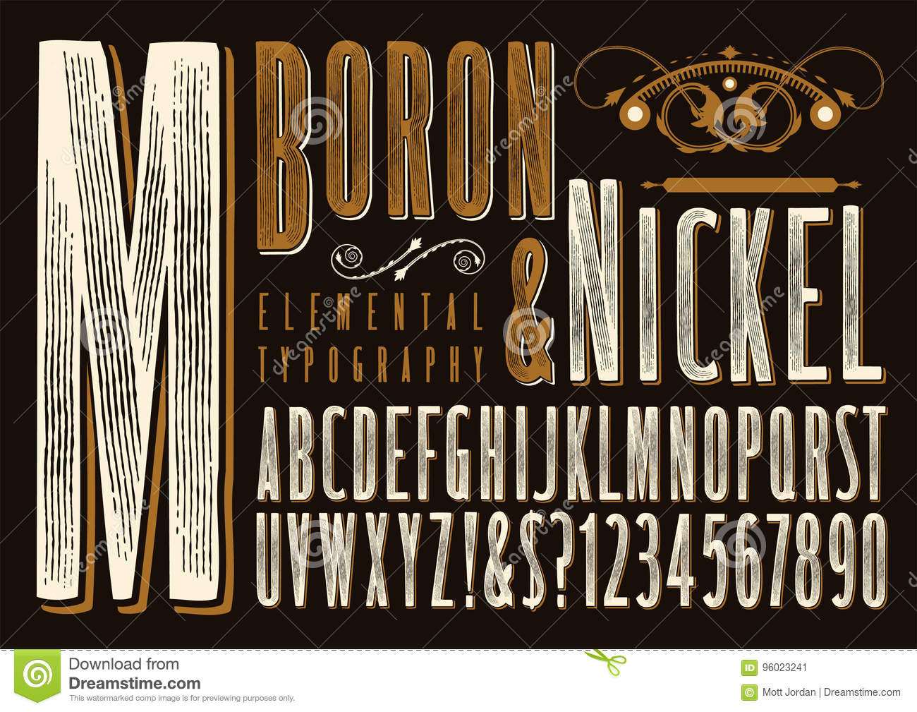 Boron Nickel Typography Stock Illustration Of Letter