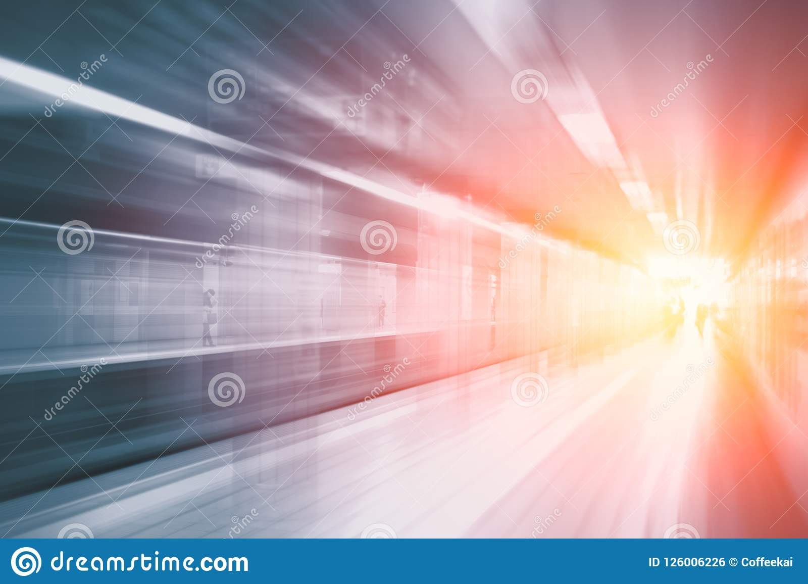 Borrão de movimento rápido rápido super da aceleração do estação de caminhos de ferro