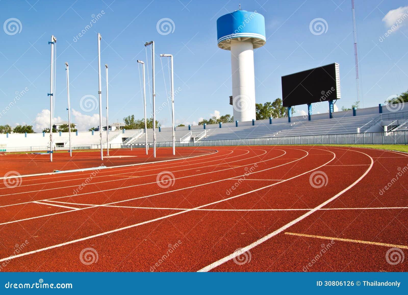 Borracha da pista de atletismo