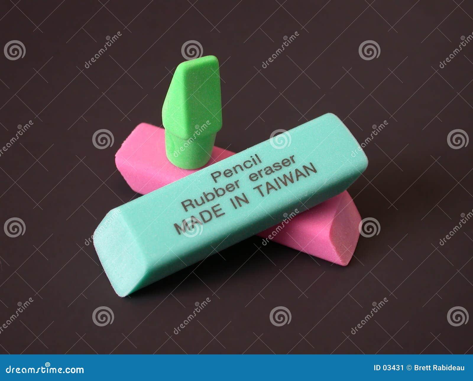 Borradores de goma - hechos en Taiwán