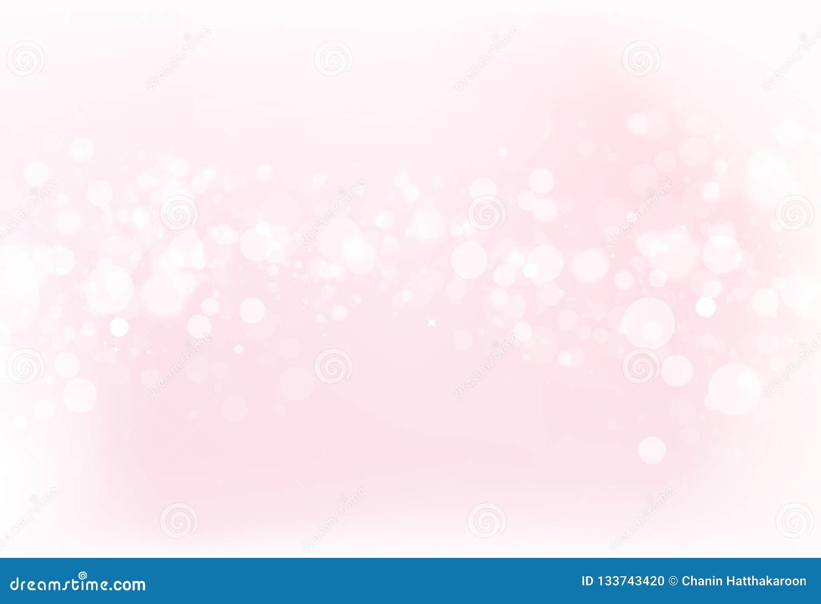 Borre o fundo cor-de-rosa v do sumário do conceito do brilho da faísca da estrela de Bokeh