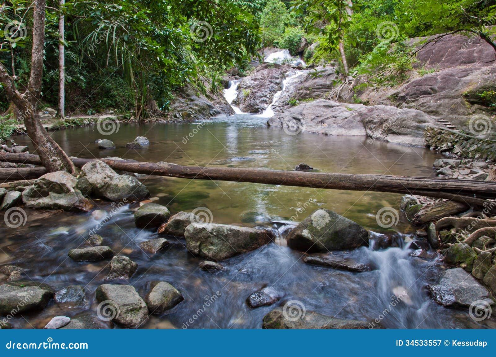 Borripat Waterfall In Satun Thailand Royalty Free Stock