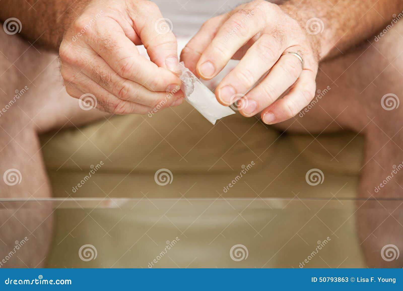 Borsa di grammo di cocaina
