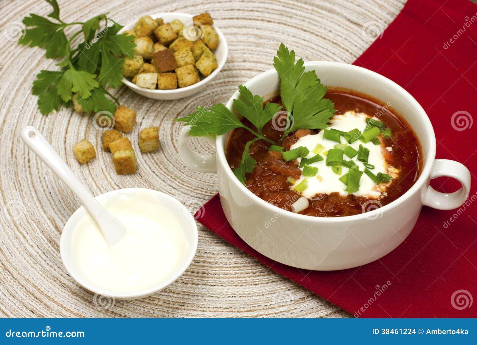 borscht, mangoldsuppe, russische küche stockbilder - bild: 38461224