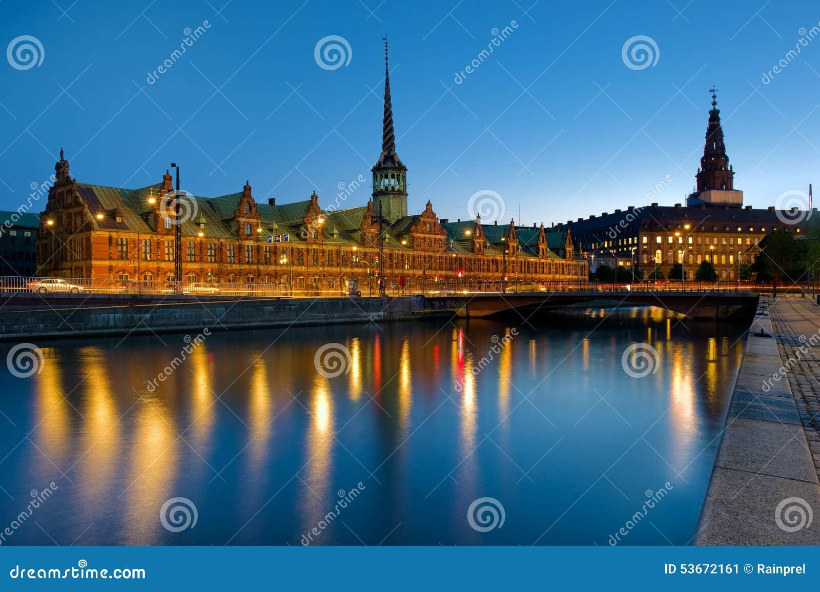 Borsen联交所大厦在哥本哈根,丹麦