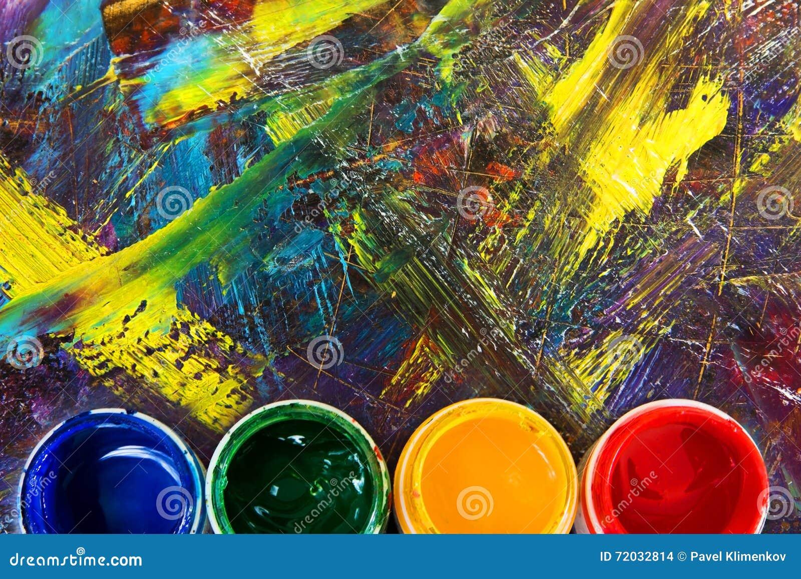 Borstel om het beeld te schilderen De borstels van de verf