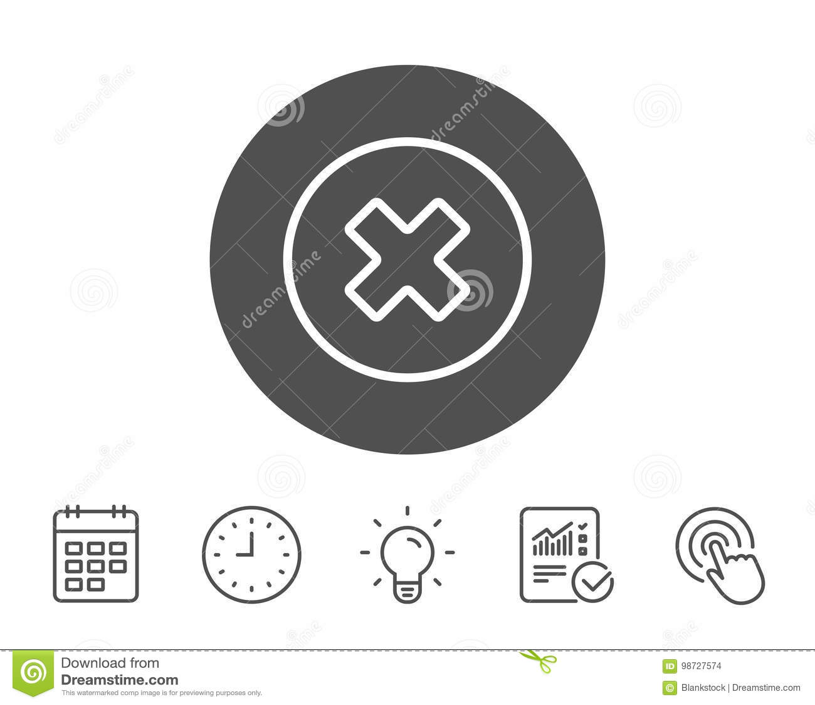 Borttagningslinje symbol Ta bort tecknet