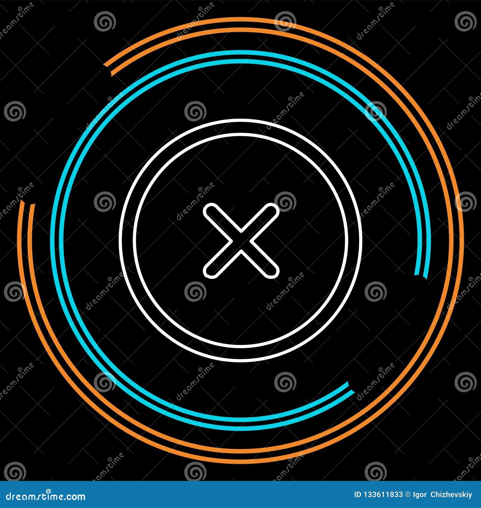 Borttagningssymbol - inget tecken, nära symbolvektor, att avbryta, förorätta och kassera illustrationen