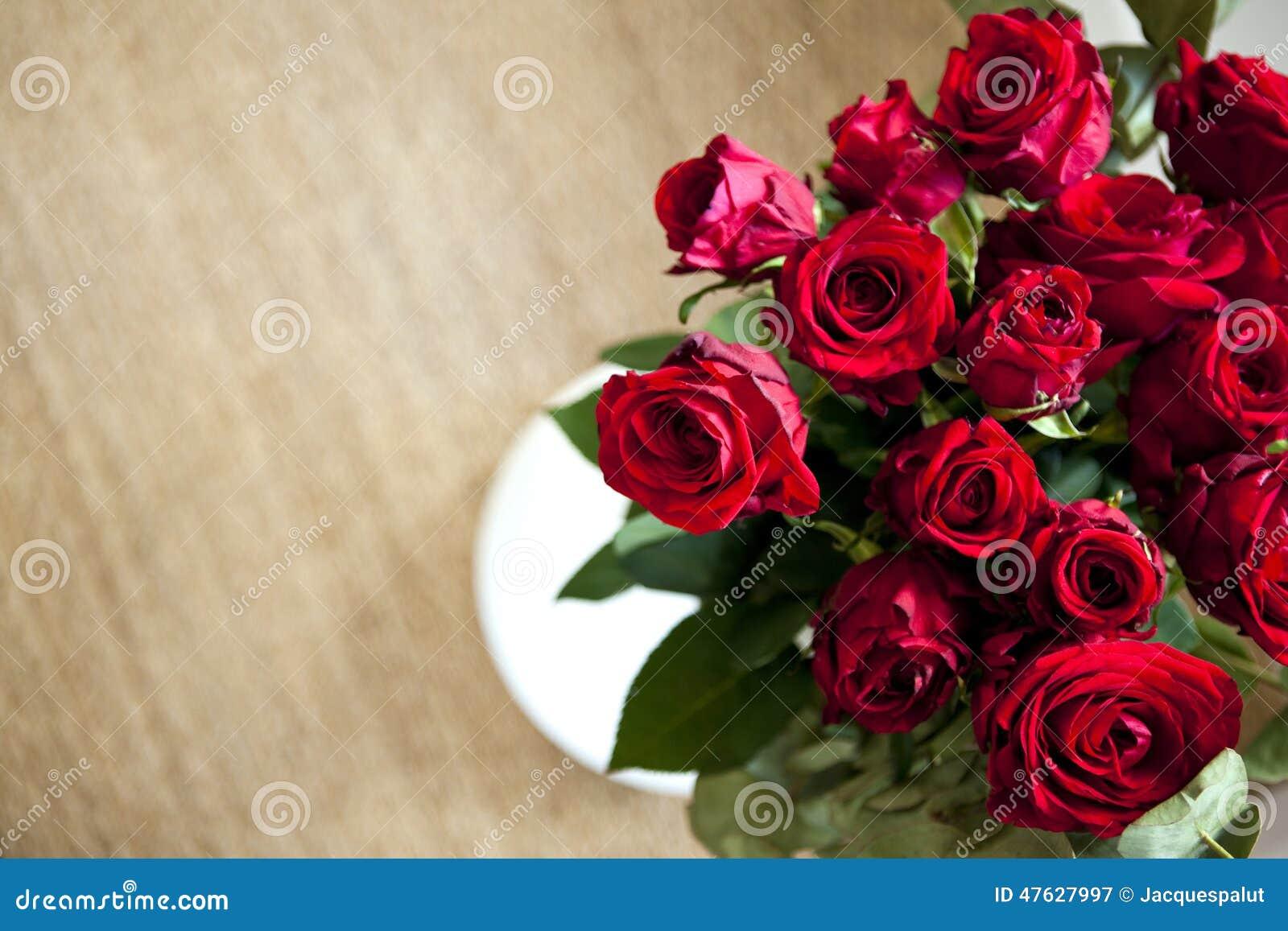 Bos van rode rozen