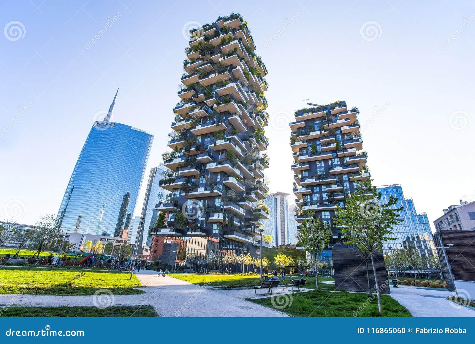 Foto Bosco Verticale Milano bosco verticale `, den vertikala skoglägenheten och
